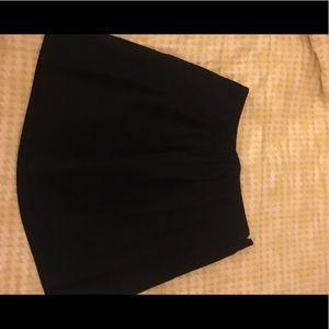 Jcrew black wool short skirt